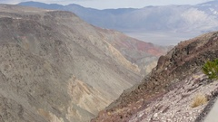 Timelapse of a canyon in Death valley, California, in United states of Americ Stock Footage
