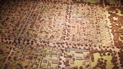 Miniature map of ancient district of Seoul in national Folk Museum of Korea Stock Footage