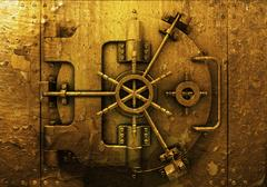 Grunge bank vault Stock Illustration