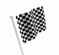 Checkered flag Stock Illustration