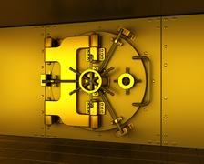 Gold vault Stock Illustration
