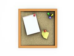Cork board Stock Illustration