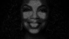 Oprah Winfrey face Stock Footage