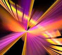 Abstract fractal Fireworks at New Year Stock Illustration