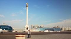 Golden Eagle Monument 4k Stock Footage