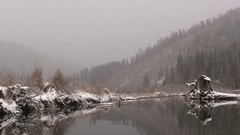 Siberian small river Stock Footage