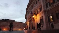Montecitorio palace, Rome, Italy Stock Footage