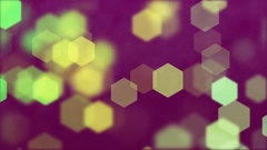 Abstract background of blurry hexagonal bokeh Stock Footage