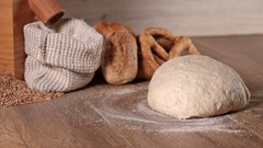 Making bread at home Stock Footage