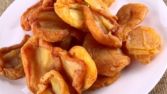 Dried Pears (rotating; not loopable; 4K footage) Stock Footage