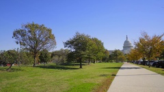 Video shot in washington dc capitol hill sunny day Stock Footage