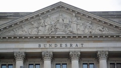 Bundesrat government building, German federal council, Berlin, Germany Stock Footage