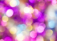 Beautiful out of focus vivid round lights background Stock Photos