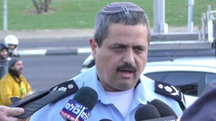 Roni Alsheikh, Chief of Israeli Police speaks to the press during fires Stock Footage
