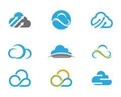 Cloud technology Logo Template Stock Illustration