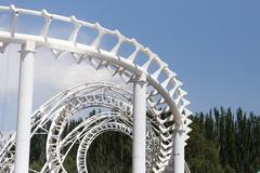 Design roller coaster against the sky Stock Photos