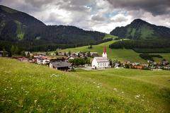Amazing alpine scenery from Berwang, Austria Stock Photos