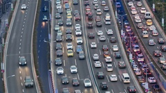 Time lapse. Traffic jam in Shanghai, China Stock Footage