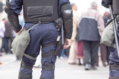 Policeman on duty. counter-terrorism. Kuvituskuvat