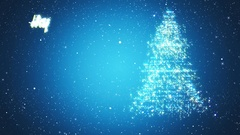 Christmas Tree Looped Background Stock Footage
