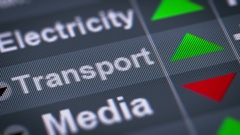 Index of Transport industry on the screen. Up. Looping. Stock Footage