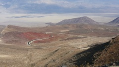 Timelapse of a curvy mountain road in Death valley, California, in United sta Stock Footage