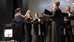 Choir on stage in Belgrade House of Youth  Stock Footage