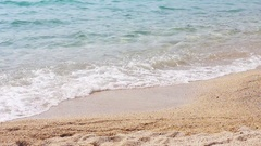 Sand beach sea waves summer season Stock Footage