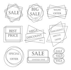 Special offer sale tag discount retail sticker price bundle isolated on white Stock Illustration