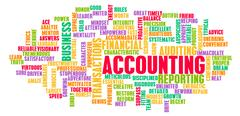 Accounting Word Cloud Concept Stock Illustration