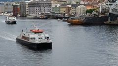 Bergen maritime traffic Stock Footage