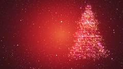 Looped background with Christmas tree of magic particles Stock Footage