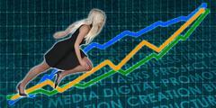 Racing to Success Business Executive Woman Stock Illustration