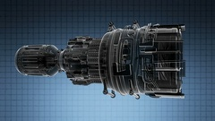 Loop rotate jet engine turbine of plane, aircraft concept,  Stock Footage