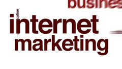 Internet marketing animated word cloud. Stock Footage