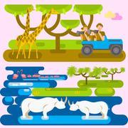 African safari concept Piirros