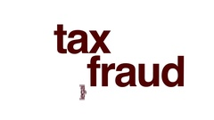 Tax fraud animated word cloud. Stock Footage