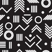 Geometric minimal seamless abstract pattern Stock Illustration
