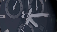 Beautiful watch with a second hand Stock Footage