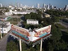 Zika Sign Miami Wynwood Stock Footage