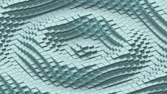 Ripples of cold shiny cubes. Stock Footage