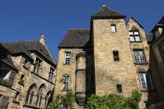 Historic Buildings - Sarlat - France Stock Photos