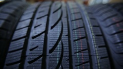 Structure of a Car tyre Stock Footage