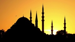 Suleymaniye Mosque built by Suleiman the Magnificent in Istanbul, Turkey Stock Footage