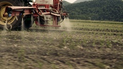 Close-up of Sprayer Nozzles Stock Footage