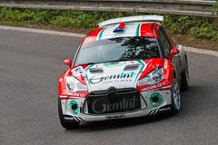 Driver Jake M. and co driver Novk in Citroen DS3 R5 Stock Photos