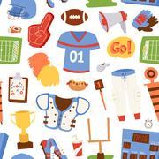 American football pattern vector illustration Stock Illustration