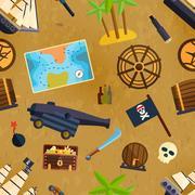 Pirate seamless pattern Piirros