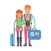 Travel couple vector illustration Piirros