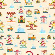 Attraction seamless pattern vector Stock Illustration